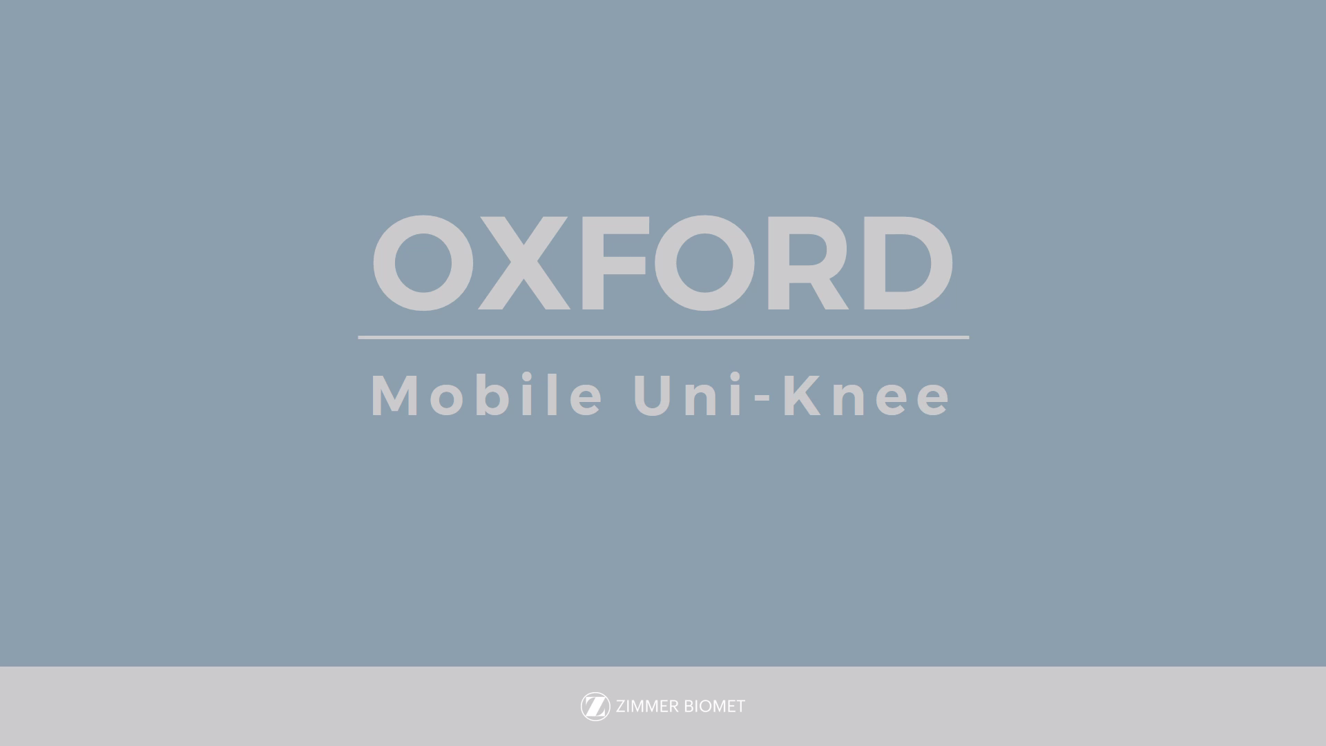 Oxford® Partial Knee System